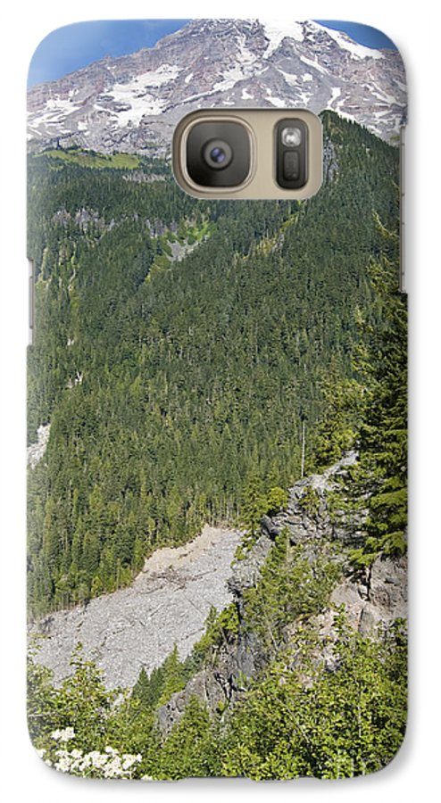 Mt. Rainier Galaxy S7 Case featuring the photograph Valley View Of Mt. Rainier by Larry Keahey