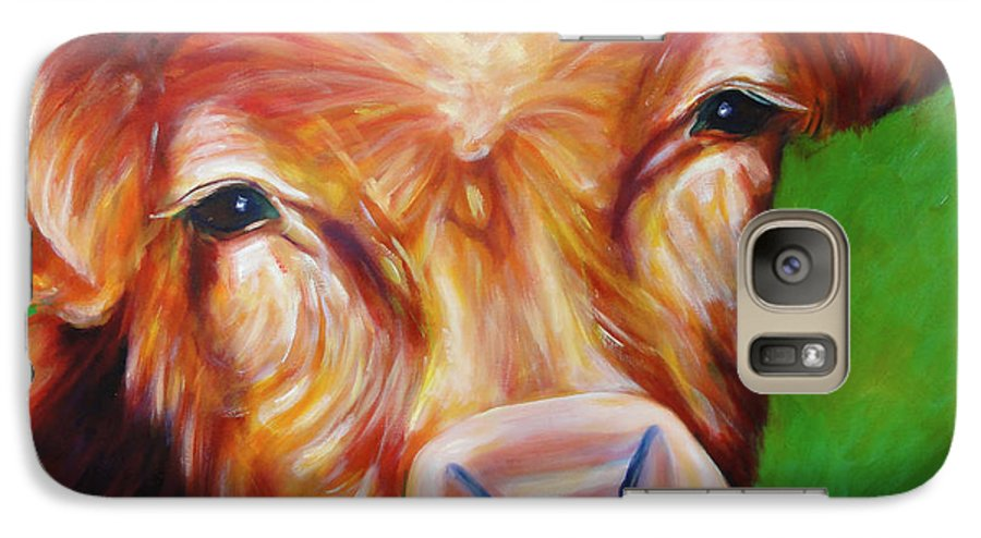 Bull Galaxy S7 Case featuring the painting Van by Shannon Grissom