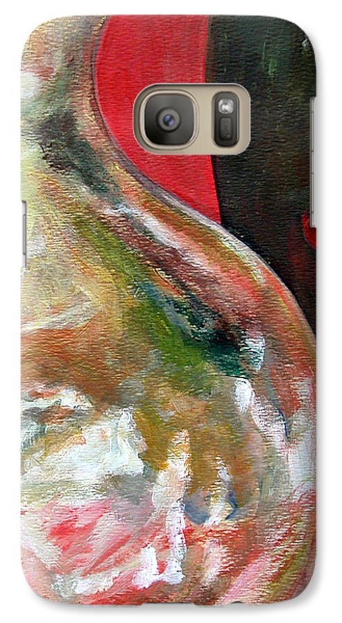 Still Life Galaxy S7 Case featuring the painting Vase by Muriel Dolemieux