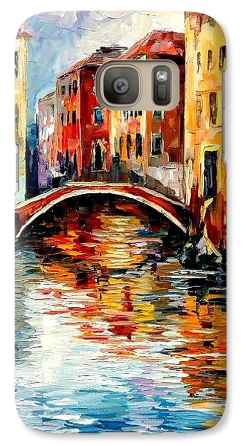 Landscape Galaxy S7 Case featuring the painting Venice by Leonid Afremov