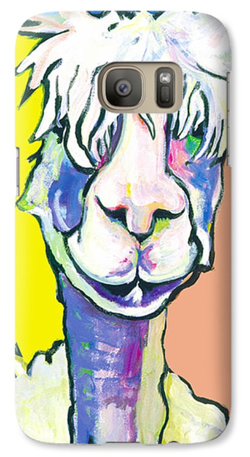 Mountain Animal Galaxy S7 Case featuring the painting Veronica by Pat Saunders-White
