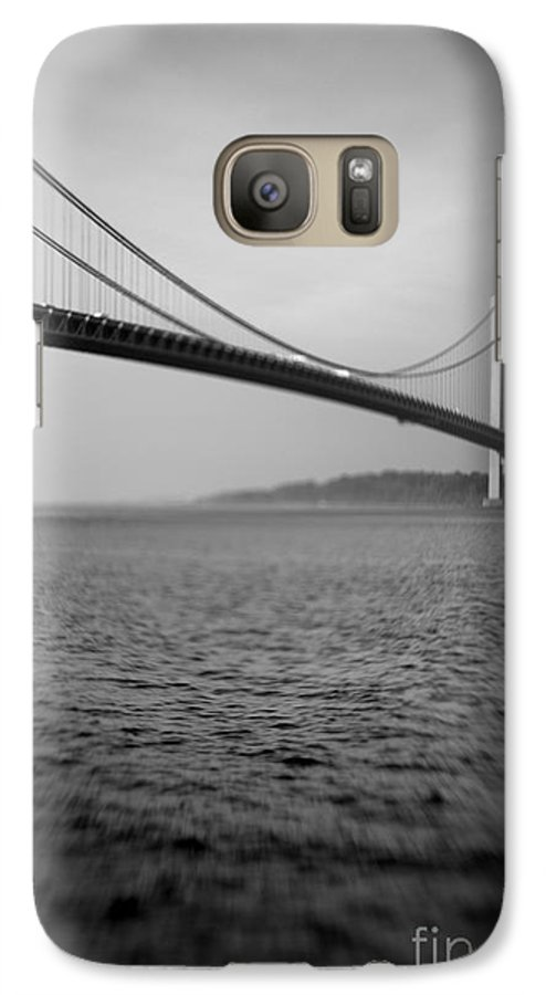 Black & White Galaxy S7 Case featuring the photograph Verrazano Bridge 1 by Tony Cordoza