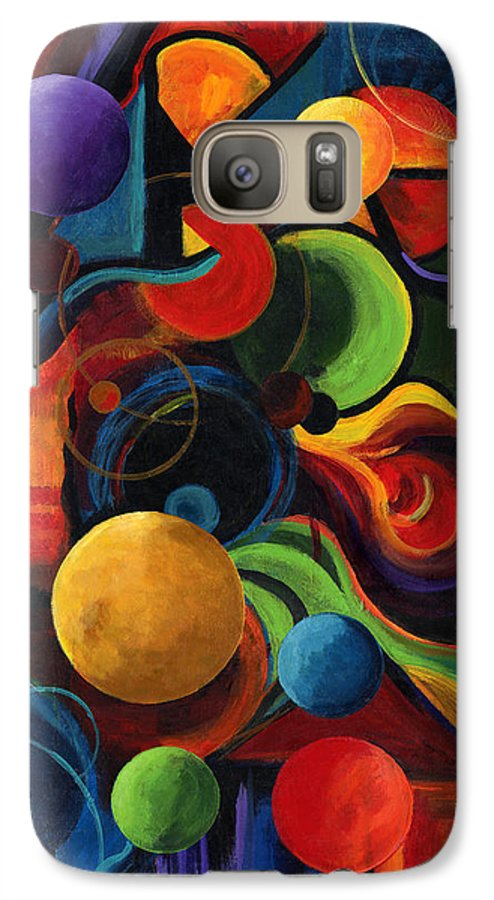 Synergy Galaxy S7 Case featuring the painting Vertical Synergy by Laura Swink