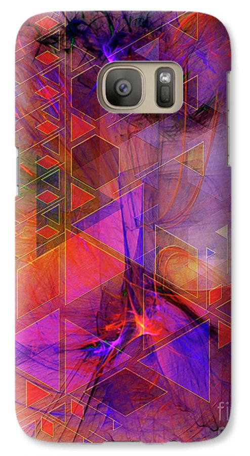 Vibrant Echoes Galaxy S7 Case featuring the digital art Vibrant Echoes by John Beck