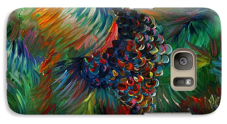 Grapes Galaxy S7 Case featuring the painting Vibrant Grapes by Nadine Rippelmeyer