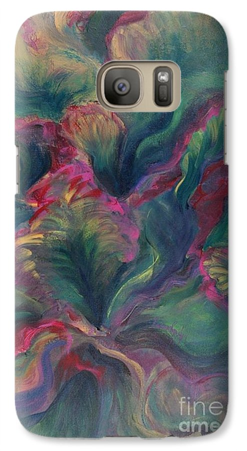Leaves Galaxy S7 Case featuring the painting Vibrant Leaves by Nadine Rippelmeyer