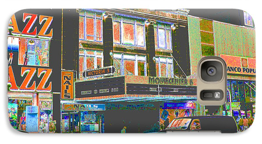 Harlem Galaxy S7 Case featuring the photograph Victoria Theater 125th St Nyc by Steven Huszar