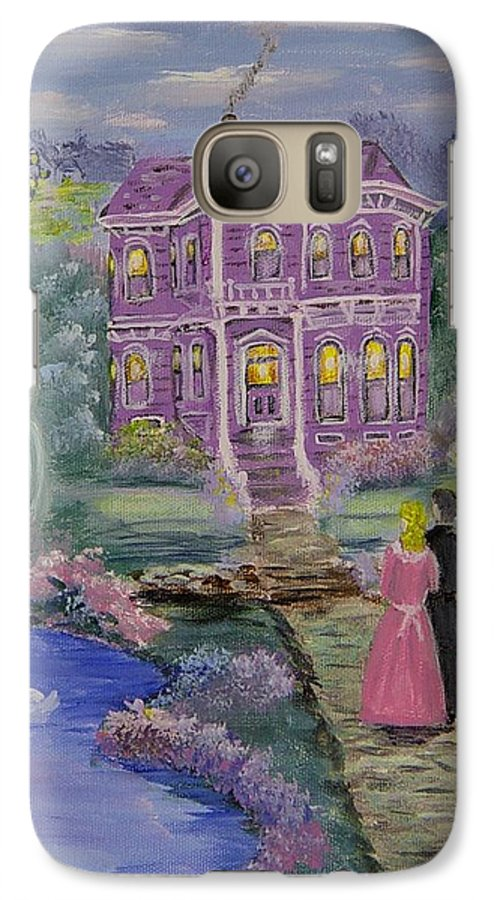 Victorian Galaxy S7 Case featuring the painting Victorian Romance 1 by Quwatha Valentine