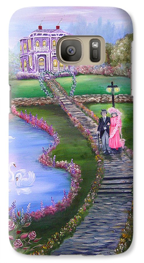 Victorian Galaxy S7 Case featuring the painting Victorian Romance 2 by Quwatha Valentine
