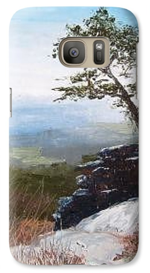 Landscape / Nature / Blue Ridge Mountains Galaxy S7 Case featuring the painting View From Pilot Mountain by Tami Booher