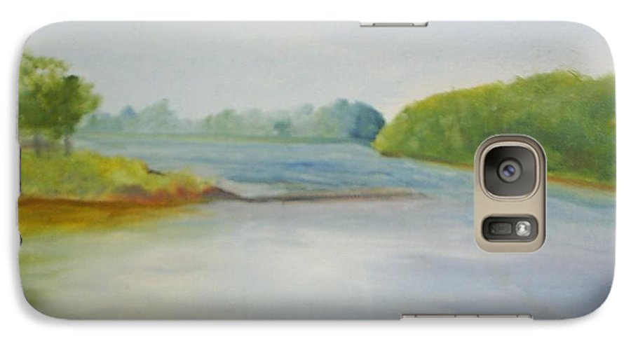 Delaware River Galaxy S7 Case featuring the painting View Of The Delaware by Sheila Mashaw