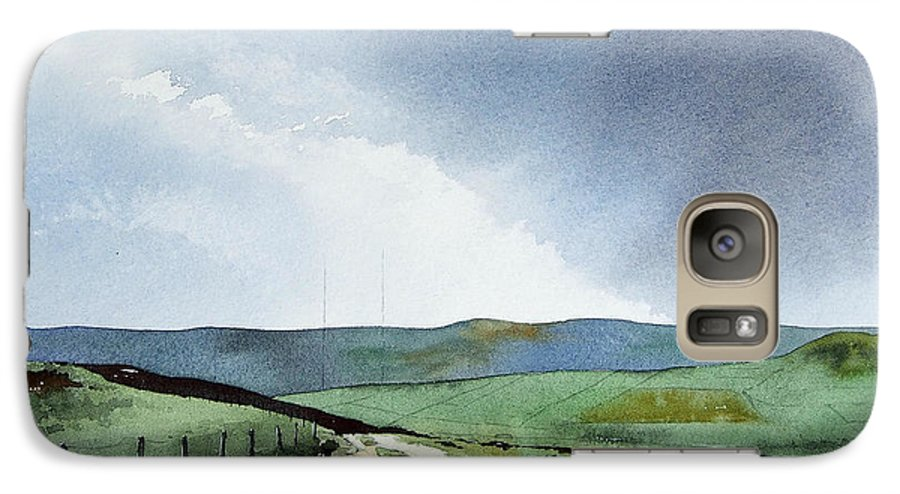 Landscape Galaxy S7 Case featuring the painting View Over Pole Moor by Paul Dene Marlor