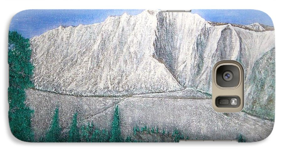 Snow Galaxy S7 Case featuring the painting Viewfrom Spruces by Michael Cuozzo