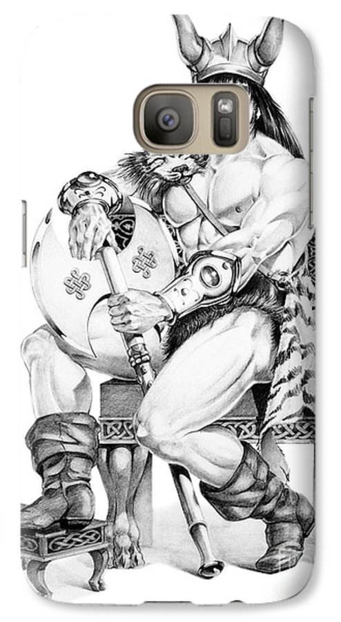 Viking Galaxy S7 Case featuring the painting Viking Warrior by Melissa A Benson