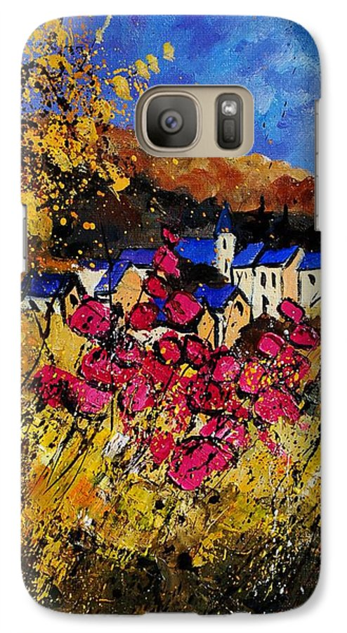Flowers Galaxy S7 Case featuring the painting Village 450808 by Pol Ledent