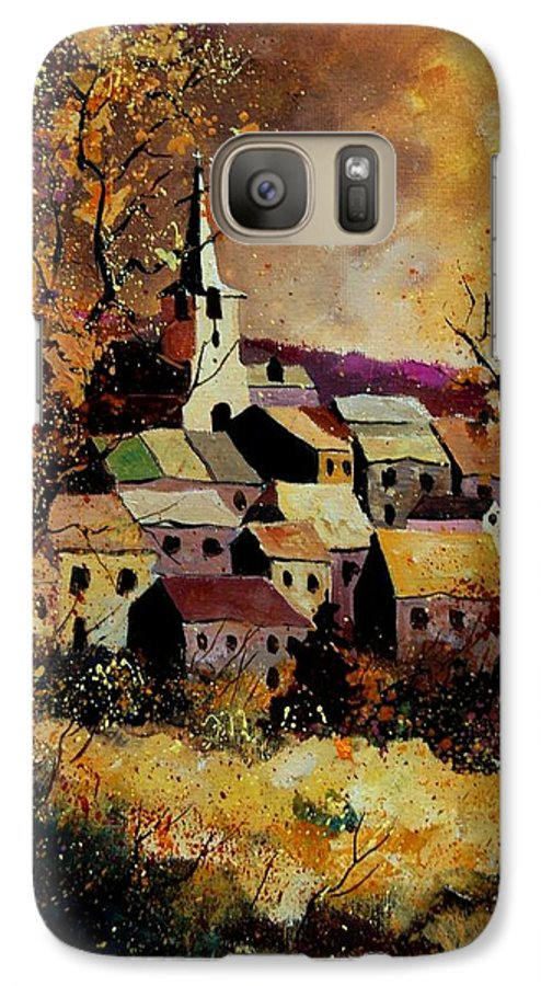 River Galaxy S7 Case featuring the painting Village In Fall by Pol Ledent