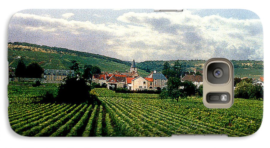 Vineyards Galaxy S7 Case featuring the photograph Village In The Vineyards Of France by Nancy Mueller