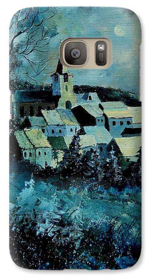 River Galaxy S7 Case featuring the painting Village In Winter by Pol Ledent