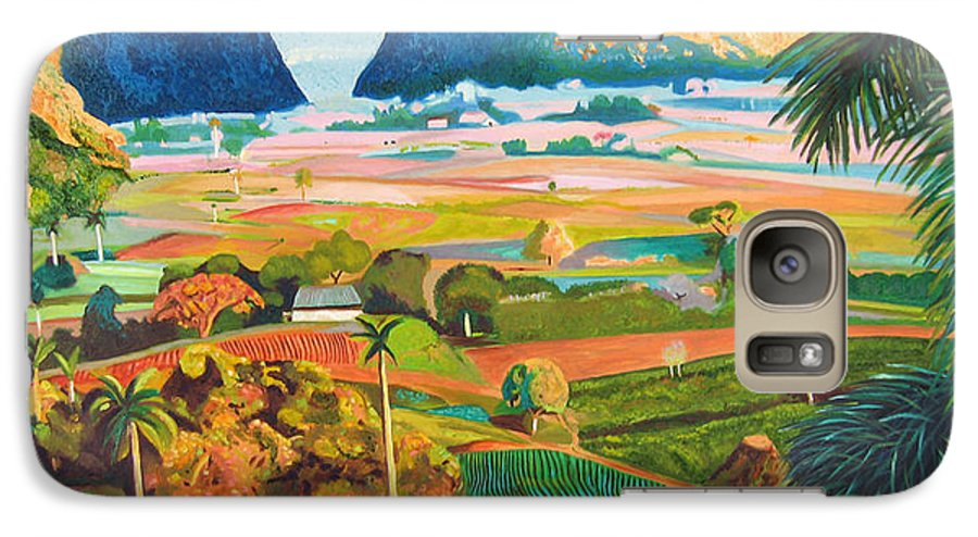 Cuban Art Galaxy S7 Case featuring the painting Vinales by Jose Manuel Abraham
