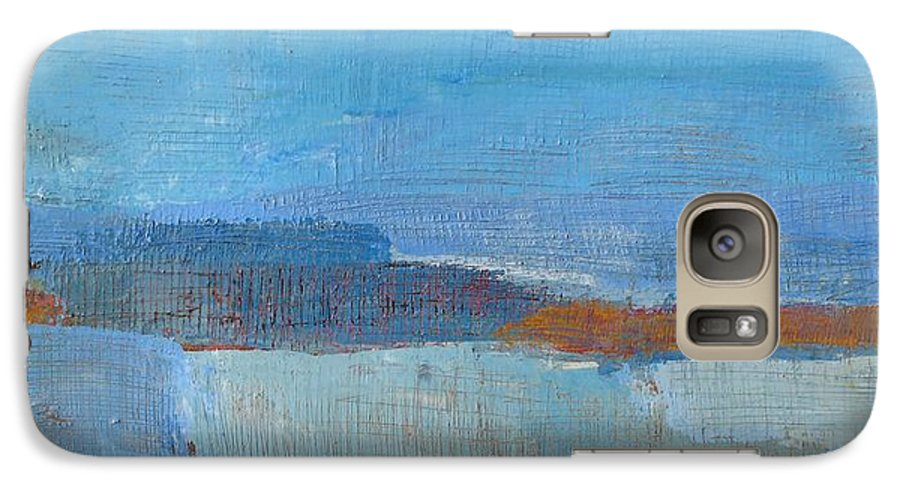 Abstract Galaxy S7 Case featuring the painting Vision by Habib Ayat
