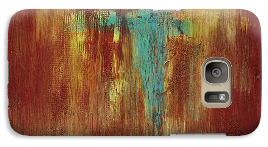Abstract Galaxy S7 Case featuring the painting Vision Quest by Tara Moorman