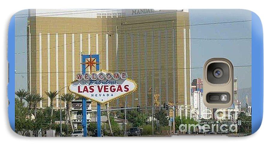 Vegas Galaxy S7 Case featuring the photograph Viva Las Vegas by Barb Montanye Meseroll