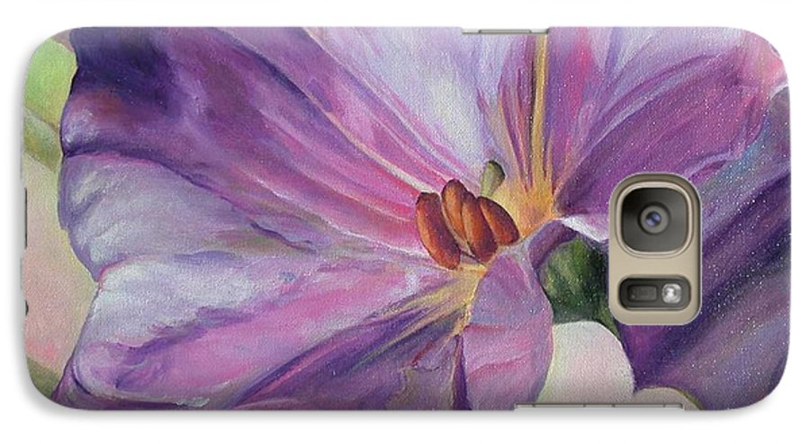 Floral Painting Galaxy S7 Case featuring the painting Volubilis by Muriel Dolemieux
