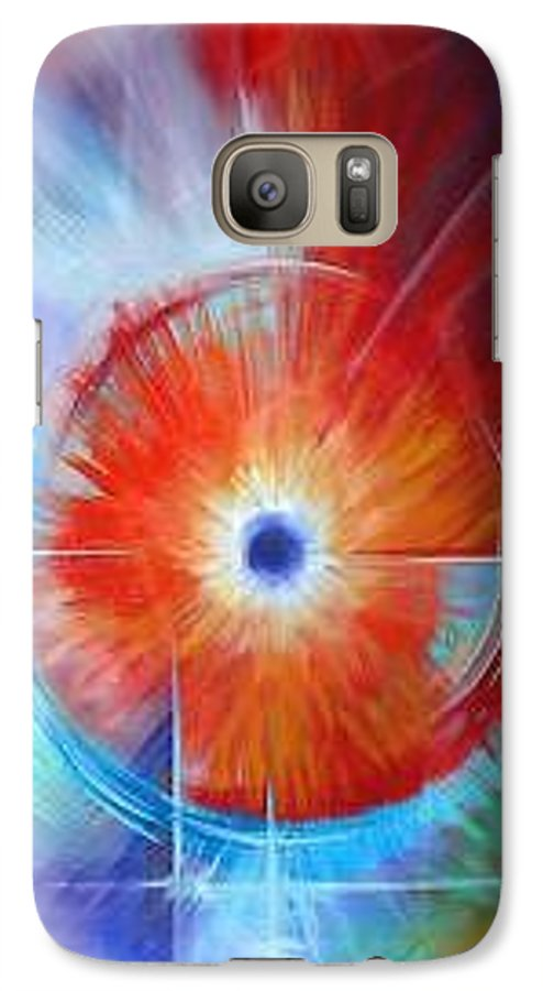 Clouds Galaxy S7 Case featuring the painting Vortex by James Christopher Hill