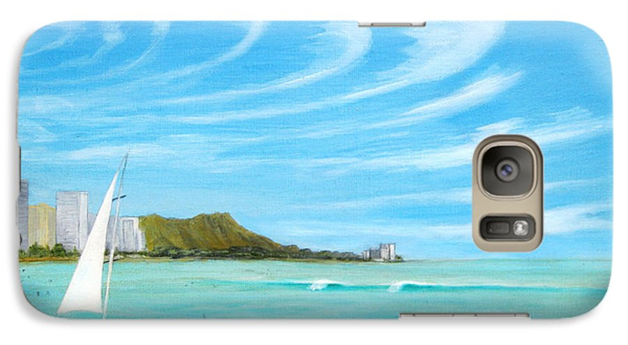 Waikiki Galaxy S7 Case featuring the painting Waikiki by Jerome Stumphauzer