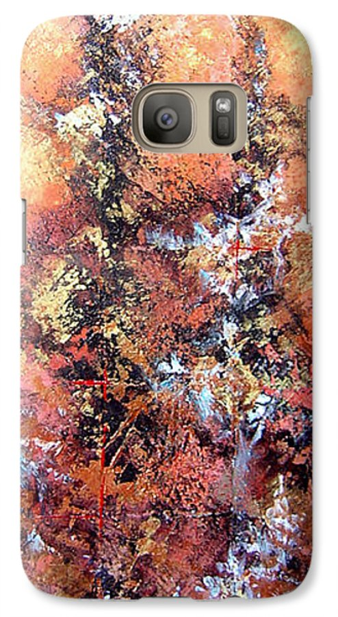 Tile Galaxy S7 Case featuring the painting Wait For Sleep by Shadia Derbyshire