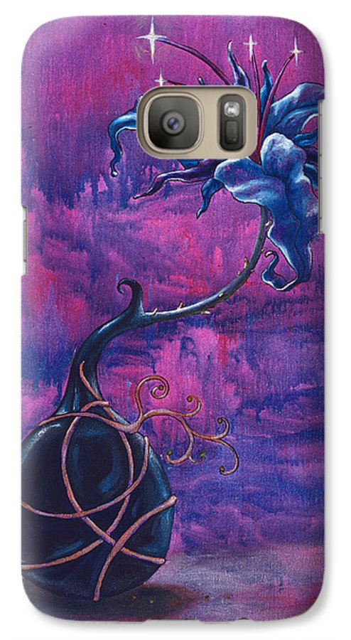 Lily Galaxy S7 Case featuring the painting Waiting Flower by Jennifer McDuffie