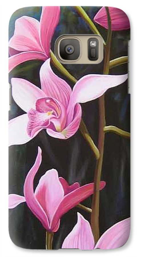 Orchids In Italy Galaxy S7 Case featuring the painting Waking Up In The Sun by Hunter Jay