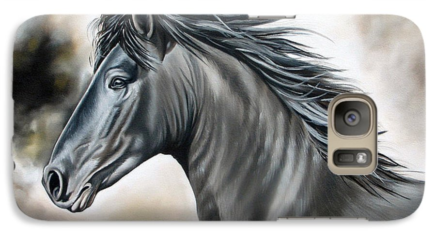 Horse Galaxy S7 Case featuring the painting Wanapun by Ilse Kleyn