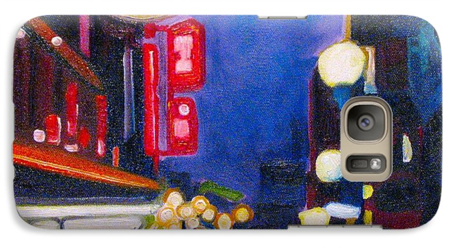 Night Scene Galaxy S7 Case featuring the painting Wandering At Dusk by Patricia Arroyo