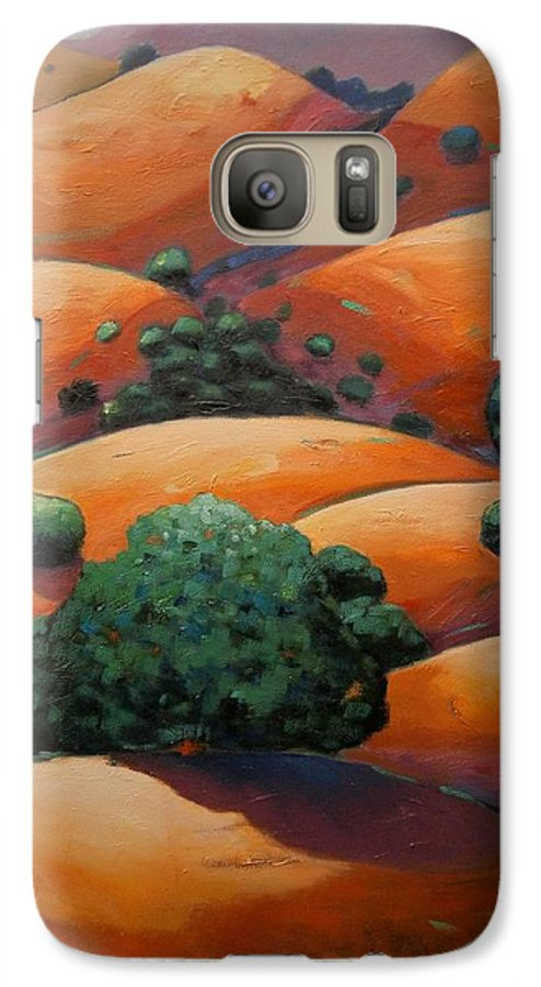 California Landscape Galaxy S7 Case featuring the painting Warm Afternoon Light On Ca Hillside by Gary Coleman