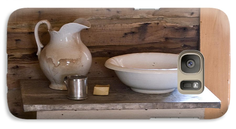 Wash Galaxy S7 Case featuring the photograph Wash Bowl Pitcher And Cup by Douglas Barnett