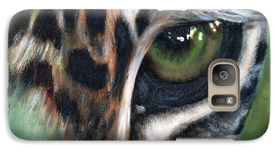 Animals Galaxy S7 Case featuring the painting Watching You Watching Me by Fiona Jack