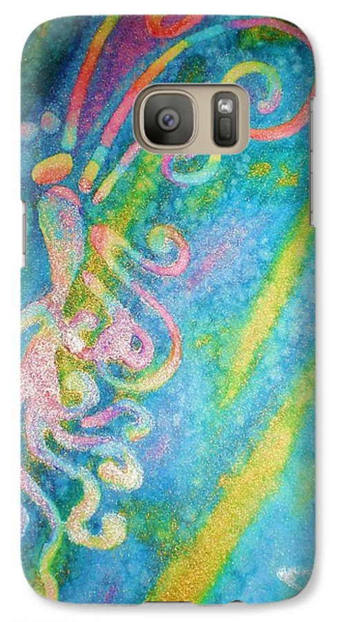 Rainbow Galaxy S7 Case featuring the painting Water Fairy by Chandelle Hazen