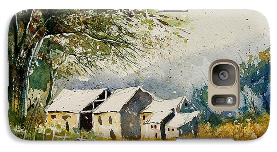 Landscape Galaxy S7 Case featuring the painting Watercolor 010708 by Pol Ledent