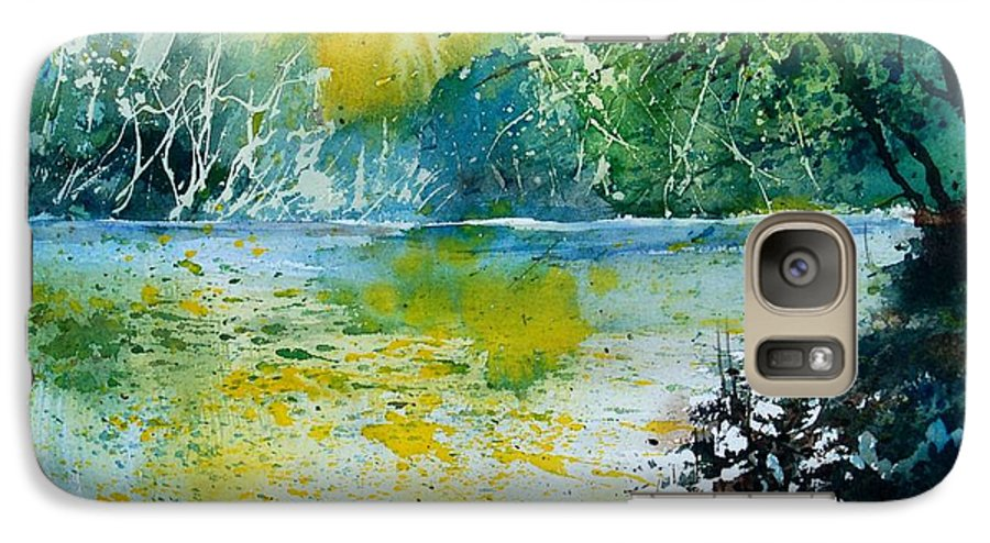 Pond Galaxy S7 Case featuring the painting Watercolor 051108 by Pol Ledent