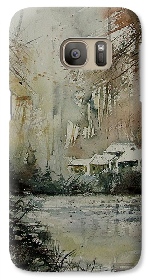 Landscape Galaxy S7 Case featuring the painting Watercolor 070608 by Pol Ledent