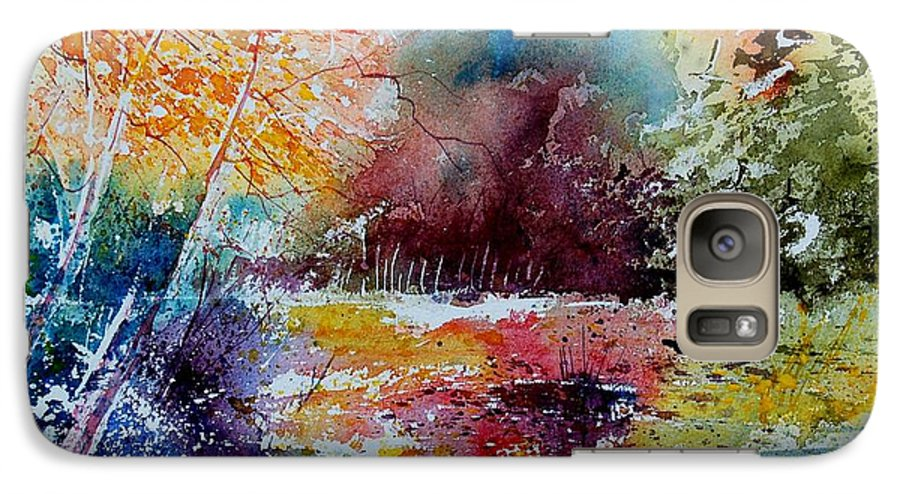 Pond Galaxy S7 Case featuring the painting Watercolor 140908 by Pol Ledent
