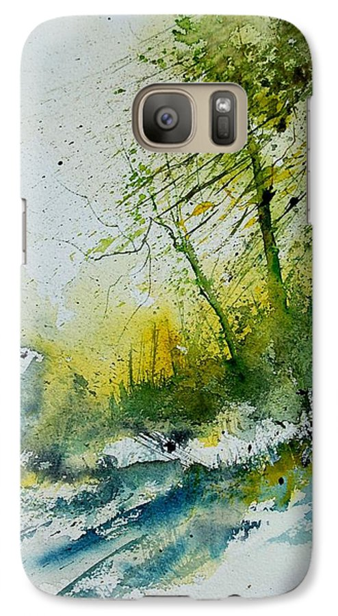 River Galaxy S7 Case featuring the painting Watercolor 181207 by Pol Ledent