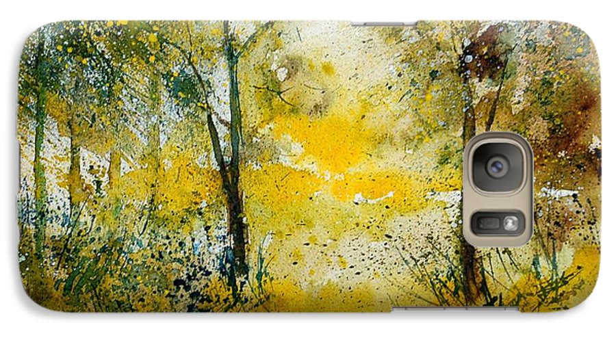 River Galaxy S7 Case featuring the painting Watercolor 210108 by Pol Ledent
