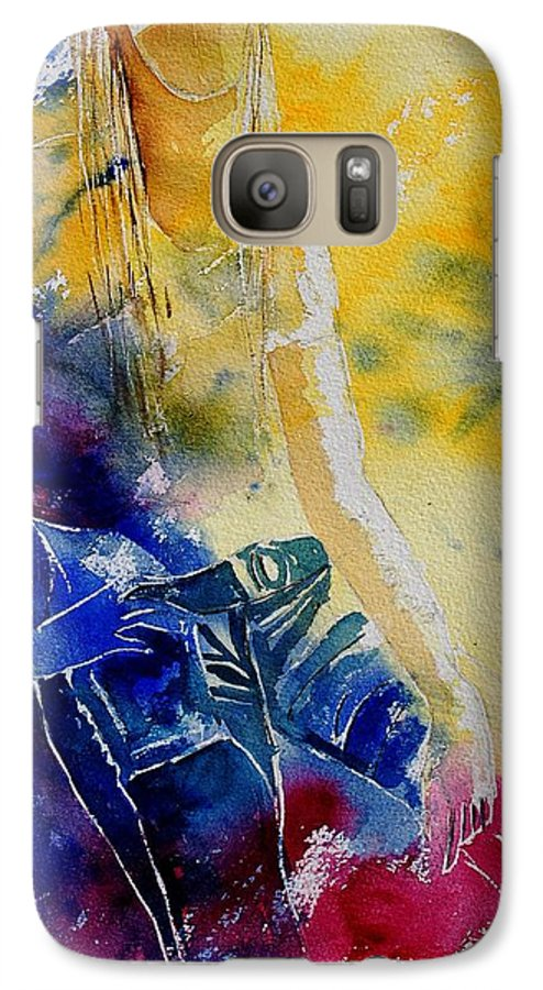 Girl Nude Galaxy S7 Case featuring the painting Watercolor 21546 by Pol Ledent