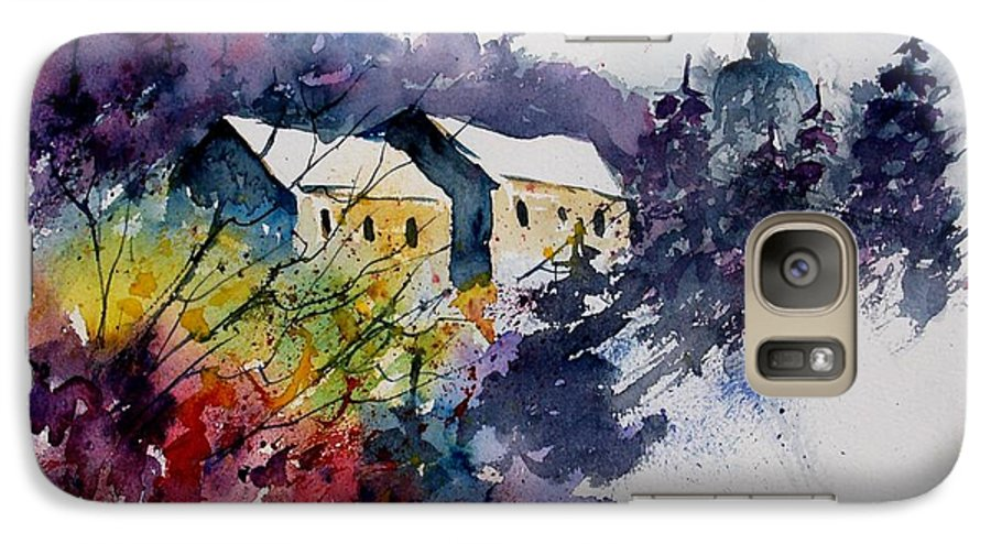 River Galaxy S7 Case featuring the painting Watercolor 231207 by Pol Ledent
