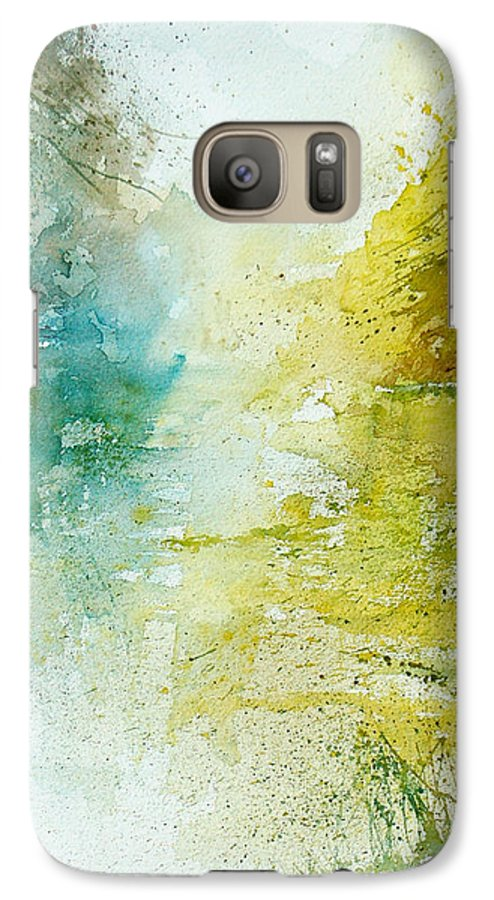 Pond Nature Landscape Galaxy S7 Case featuring the painting Watercolor 24465 by Pol Ledent