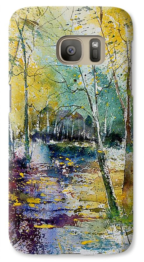 Pond Galaxy S7 Case featuring the painting Watercolor 280809 by Pol Ledent