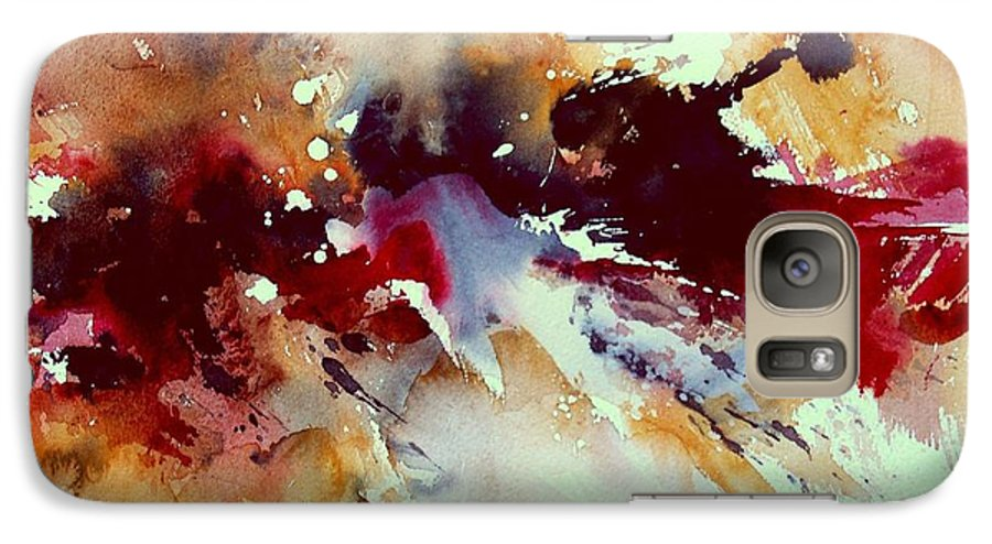 Abstract Galaxy S7 Case featuring the painting Watercolor 301107 by Pol Ledent