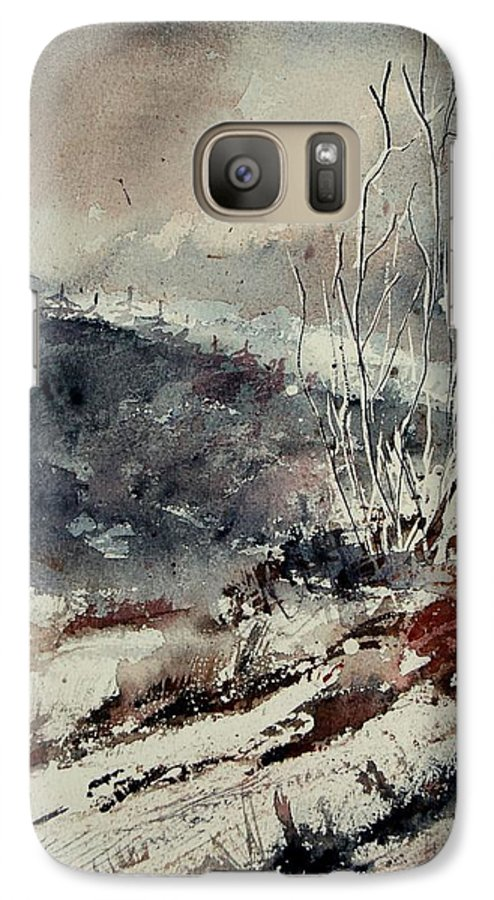Snow Galaxy S7 Case featuring the print Watercolor 446 by Pol Ledent